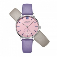 Đồng hồ nữ JS-010 Julius Star Hàn Quốc dây da tặng kèm dây da