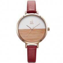 Đồng hồ nữ chính hãng Shengke Korea K8036L-04 đỏ