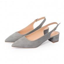 Giày nữ, giày cao gót vuông slingback Erosska bít mũi độc đáo cao 3 cm EL011 (GR)