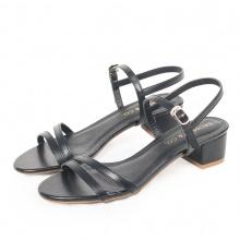 Giày nữ, giày cao gót đế vuông Erosaska cao 3cm thời trang thiết kế phối màu sang trọng EB006 (BA)