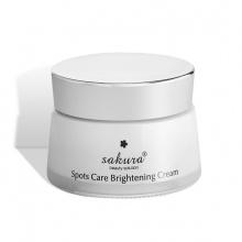 Kem dưỡng trắng, ngăn ngừa sạm nám, chậm quá trình lão hoá và phục hồi tổn thương do ánh sáng mặt trời (Sakura Spots Care Brightening Cream)