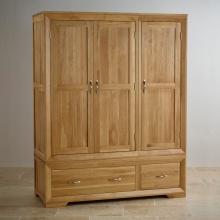 Tủ quần áo Camber 3 cánh 2 ngăn kéo gỗ sồi 1m4