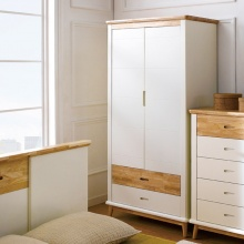 Tủ quần áo Canna gỗ cao su 1m4 - Cozino