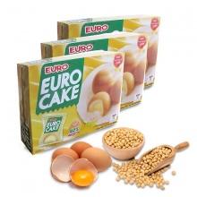 Bánh Euro Custard Cake nhân kem trứng 240g/hộp - Combo 3 hộp