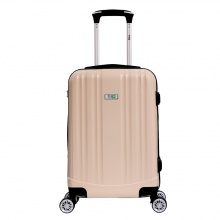 Vali chống bể cao cấp Trip PP102 Size 60cm màu kem (tặng 1 áo trùm vali vải dù xanh lá)