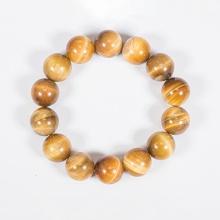 Vòng tay phong thủy đá mắt hổ vàng tâm 14mm mệnh thổ, kim - Ngọc Quý Gemstones