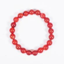 Vòng tay phong thủy nữ đá mã não đỏ 8mm mệnh hỏa, thổ - Ngọc Quý Gemstones