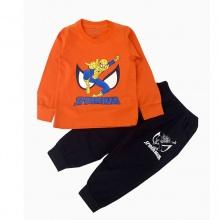 Đồ bộ bé trai dài tay siêu nhân spiderman Vinakids màu cam (1-7 tuổi)