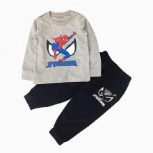 Đồ bộ bé trai dài tay siêu nhân spiderman Vinakids màu ghi (1-7 tuổi)