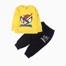 Đồ bộ bé trai dài tay siêu nhân spiderman Vinakids màu vàng (1-7 tuổi)