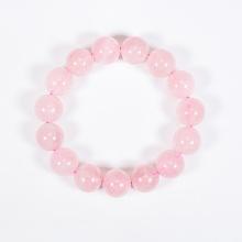 Vòng tay phong thủy đá thạch anh hồng 12mm mệnh hỏa, thổ - Ngọc Quý Gemstones