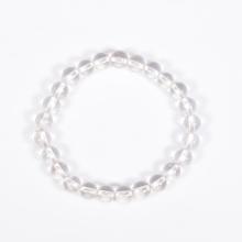 Vòng tay phong thủy nữ đá thạch anh trắng 6mm mệnh Kim, Thủy - Ngọc Quý Gemstones