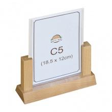 Menu mica để bàn đế gỗ, standee để bàn Nhatvywood A5-NV5104