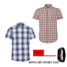 Combo 2 áo sơ mi nam sọc caro Model Fashion cao cấp MSMI8209 (tặng đồng hồ sport led)