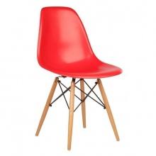 Ghế Eames chân gỗ DSW (đỏ)