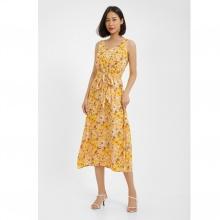 Đầm midi họa tiết hoa vàng MD'M MD67550916-YE