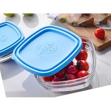 Hộp thực phẩm thủy tinh cường lực Pháp Duralex Freshbox Nắp Xanh Blue 300ml