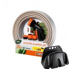 Bộ dây và vòi xịt nước đa năng Starter 20m TẶNG máng treo ống nước Eco 0 - Claber-Italy BH 12 tháng