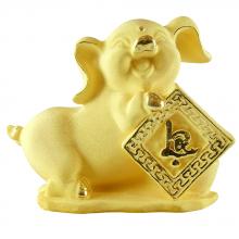 Kim hợi phát lộc - quà tặng mỹ nghệ Kim Bảo Phúc phủ vàng 24k DOJI