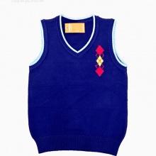Áo len gile hình logo Vinakids màu tím than size 2-10