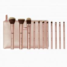 Bộ 11 cây cọ BH Cosmetics Metal Rose 11 Piece Brush Set With Bag