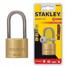 Ổ khóa hiệu stanley USA, đồng thau, càng dài, rộng 40mm- S742-043