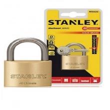 Ổ khóa hiệu stanley USA, đồng thau, càng tiêu chuẩn, rộng 40mm- S742-031