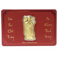 Lì xì thần tài - Quà tặng mỹ nghệ Kim Bảo Phúc phủ vàng 24k DOJI