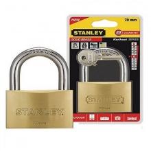 Ổ khóa hiệu stanley USA, đồng thau, càng tiêu chuẩn, rộng 70mm - S742-034