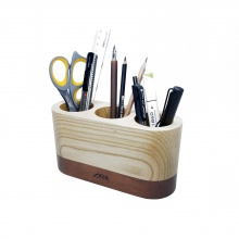 Ống cắm bút gỗ oval