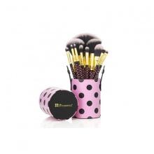 Bộ cọ trang điểm 11 cây BH Cosmetics Pink - A - Dot 11 Piece Brush Set
