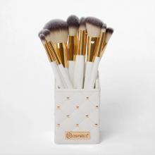 Bộ cọ 12 cây BH Cosmetics White Studded Elegance 12 Piece Brush Set with Holder