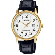 Đồng hồ nam Casio MTP-V002GL-7B2UDF chính hãng dây da đen - mặt số màu trắng