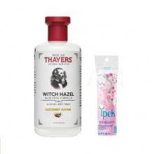 Nước hoa hồng không cồn Thayers Coconut Water - hương dừa 355ml + tặng 1 bông tẩy trang Ipek 80 miếng