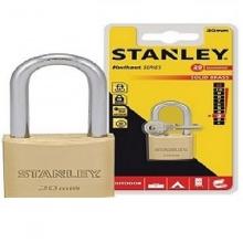 Ổ khóa Hiệu Stanley USA, đồng thau, càng dài, rộng 30mm - S742-042