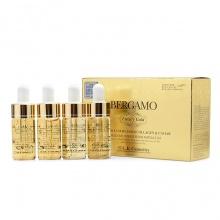 Bộ 4 chai tinh chất trị mụn - dưỡng trắng - tái tạo da Bergamo Luxury Gold Collagen And Caviar
