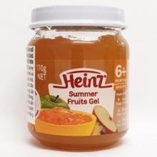 Rau câu trái cây mùa hè cho trẻ từ 6 tháng tuổi trở lên - Heinz Summer Fruits Gel