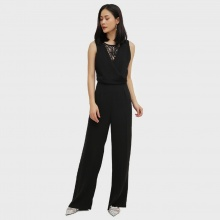Jumpsuits phối ren Cotton Brothers CB18S181601-BL