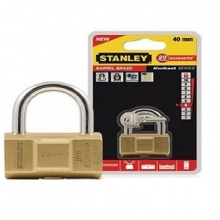 Ổ khóa hiệu stanley USA, đồng thau, rộng 40mm- S742-046