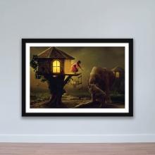 """Tranh trang trí """"Ngôi nhà trên cây"""" tranh treo tường phòng ngủ W4046"""