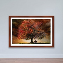"""Tranh phong cảnh """"Cây lá đỏ"""" tranh treo tường W4054"""