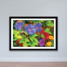 """Tranh hoa lá """"Hoa đậu biếc"""" tranh treo tường W4055"""