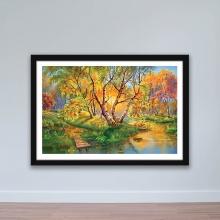"""Tranh phong cảnh """"Rừng lá vàng"""" tranh treo tường W4056"""