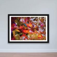 """Tranh trang trí hoa lá """"Bướm và hoa"""" tranh treo tường W4061"""