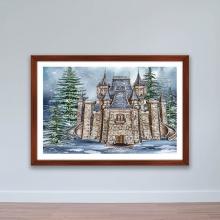 """Tranh trang trí """"Lâu đài tuyết"""" tranh treo tường W4069"""