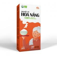 Gạo hữu cơ Hoa Nắng - gạo lứt 2kg