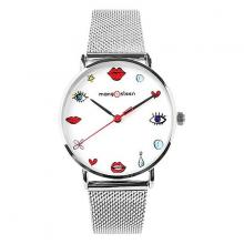 Đồng hồ nữ Mangosteen MS520C Han Quốc dây thép (bạc )