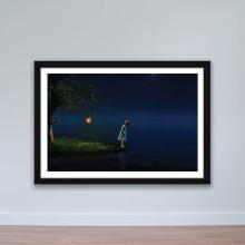 """Tranh trang trí """"Cô bé trong đêm tối"""" tranh phong cảnh W4087"""