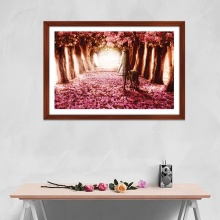 """Tranh trang trí """"Rừng hoa đào"""" tranh phong cảnh W4088"""