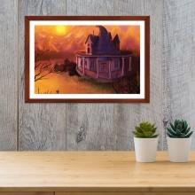 """Tranh trang trí """"Lâu đài huyền bí"""" tranh phong cảnh W4089"""